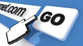 Browser del Internet Fotografie Stock Libere da Diritti