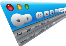 Browser del Internet Fotografia Stock Libera da Diritti