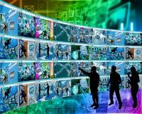 Browser della parete Fotografia Stock