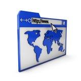 Browser di Internet Fotografie Stock Libere da Diritti