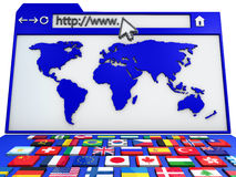 Browser di Internet Fotografia Stock