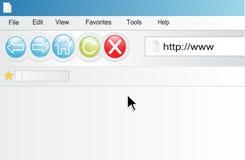 Browser di Internet Fotografia Stock Libera da Diritti