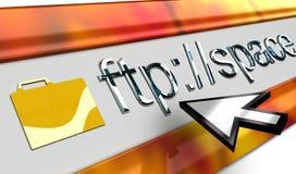 Browser di Internet lucido del ftp illustrazione vettoriale