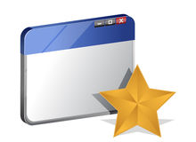 Browser-Favoritkonzept Stockbilder