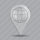 Browser Glossy Icon Vector Illustration Royalty Free Stock Photos