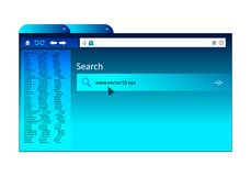 Browser home page with bookmarks and search engine royalty free illustration