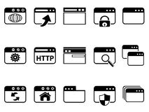 Browser icon set Royalty Free Stock Photos