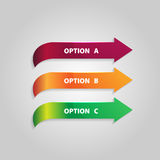 Browser with Infographic Arrows. Vector Image. Royalty Free Stock Photo