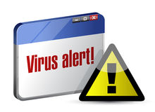 Browser internet virus alert. illustration design Royalty Free Stock Image