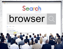 Browser Search Engine Browsing Web Page Technology Concept royalty free stock image