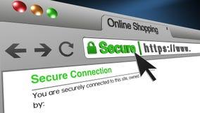browser sicuro di compera online dello SSL dell'illustrazione 3D royalty illustrazione gratis
