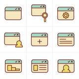 Browser van de pictogrammenstijl pictogramreeks Royalty-vrije Stock Fotografie
