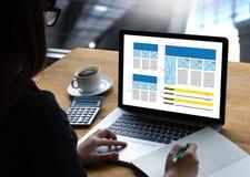 Browser van het HOMEPAGE de Globale Adres Software van het Internetwebsiteontwerp royalty-vrije stock foto
