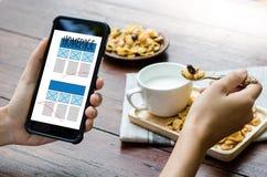 Browser van het HOMEPAGE de Globale Adres Software van het Internetwebsiteontwerp stock foto's
