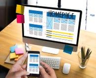 Browser van het HOMEPAGE de Globale Adres Software van het Internetwebsiteontwerp stock afbeeldingen