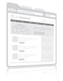 Browser van het Web Stock Afbeelding
