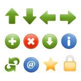 Browser van het Web gemeenschappelijke pictogrammen Royalty-vrije Stock Afbeeldingen