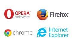 Browser Web Fotografie Stock