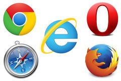 Browser Web Immagine Stock Libera da Diritti