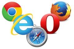 Browser Web Fotografia Stock Libera da Diritti