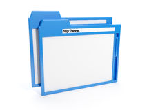 Browser window. 3d illustration: browser window blue Stock Photos