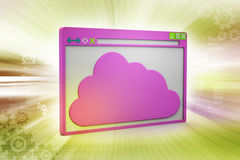 Browser window  with cloud Royalty Free Stock Image