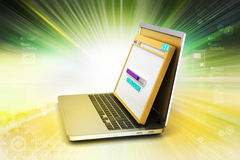 Browser window with laptop Stock Image