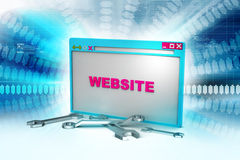 Browser window in maintenance Stock Photos