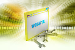 Browser window in maintenance Stock Photography