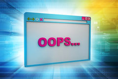 Browser window showing error Stock Photos