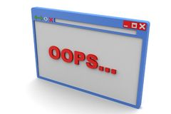 Browser window showing error Royalty Free Stock Image