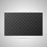 Browser window template with transparently place for web page. Layout Royalty Free Stock Image