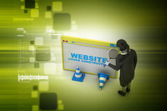 Browser window with woman Stock Photography