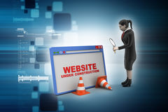 Browser window with woman Royalty Free Stock Images