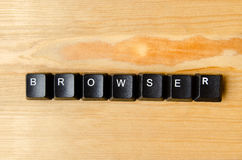 Browser word. With keyboard buttons royalty free stock photos