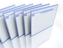 Browsers. 3d image on white background Stock Photos
