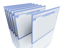 Browsers. 3d image on white background Stock Photography