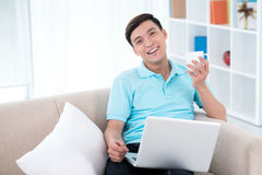 Browsing from home Stock Photography
