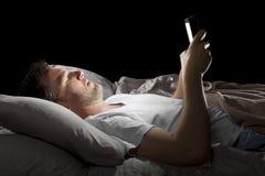 Browsing Internet Late at Night royalty free stock photo