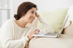Browsing internet Royalty Free Stock Image