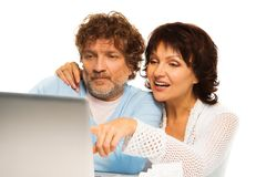 Browsing internet together Royalty Free Stock Image