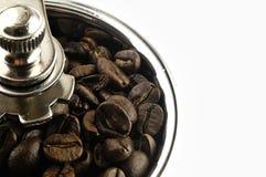 Broyeur de café sur la table Photographie stock libre de droits