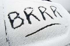 Brrr Royalty Free Stock Image