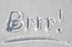 Brrr! Es ist kalte Außenseite! Stockbilder