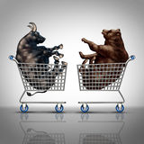 Börse-Einkaufen Stockfoto
