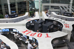Börse Tokyos in Tokyo, Japan Stockbild