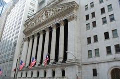 Börse von New York, Wall Street Lizenzfreie Stockfotos