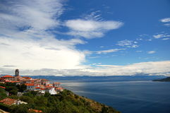 Picturesque view of village Brsec on Istria penins Royalty Free Stock Photo