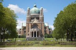 Brüssel - nationale Basilika des heiligen Inneren Stockfoto