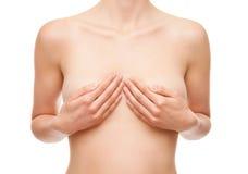 Bröstcancersjukvård och läkarundersökningbegrepp Royaltyfri Fotografi